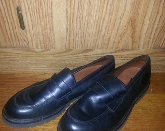 FREE SHIP BONUS Eddie Bauer  leather penny loafers shoes 15 vintage