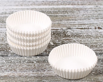 Small White Candy Cups, Glassine Candy Cups, Glassine Truffle Cups, Peanut Butter Cup Wrappers, Valentine's Candy Cups, Candy Making