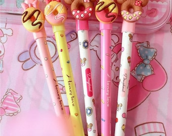 Mouse donuts cute ball point pen x 1