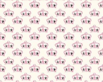 Fat Quarter - British Crown Pink   Fat Quarter Riley Blake Designs