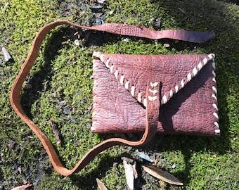 Deerskin Leather Wrap Wallet