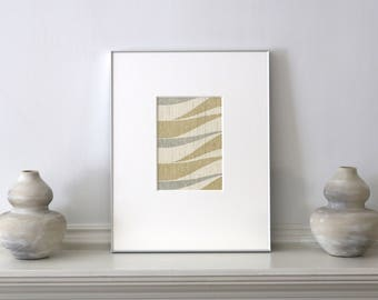 Framed Abstract Wallpaper Mid Century c. 1960s 11 x 14 inches