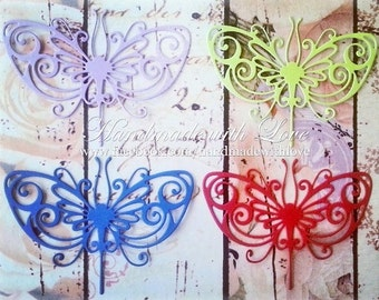 Stained Glass Butterfly, 1 pack of 10pcs. Perfect for cardmaking, scrapbooking, decoration, and many other projects.