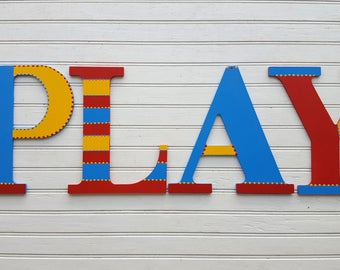 Childrens Name Letters - Painted Wall Letters - Kids Room - Nursery - Large Wall Letters