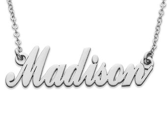 Personalized Name Necklace - Sterling Silver - Custom Name Necklace - Nameplate Necklace - Personalized Name Jewelry - Name Necklace