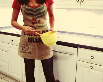 Brazil Burlap Coffee Sack Apron