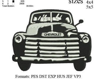 Old Pickup Truck, old truck, old car, Old Chevy Truck,embroidery design No 204 ... 02 sizes   instant download