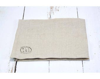Natural french linen napkin zero waste, eco-friendly and sustainable