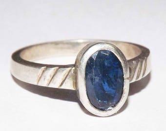 100% Natural Blue Kyanite Gemstone Handmade 925 Silver Ring #rmc70