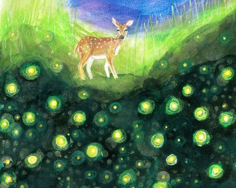 FireFly Fawn Print