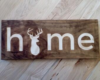 Home (Deer) Wall or Desk Art
