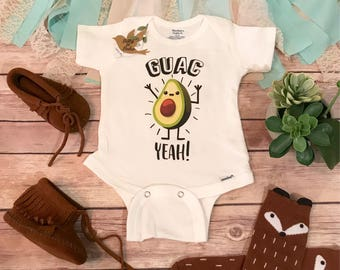 Hipster Baby Clothes, Avocado Onesie®, Funny Onesies, Funny Baby Onesies, Baby Shower Gift, Unique Baby Gifts, Guacamole Onesie