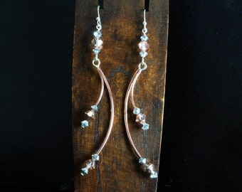 Swarovski, Sterling Earrings