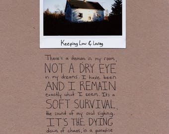 Keeping Low & Loving / instant film and poetry / 8.5 x 11 inches