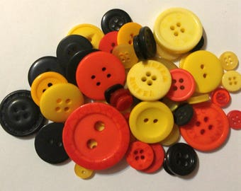 50 Halloween Colored Button - Mixed Button Sizes - 27