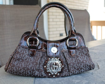 Brown / Bronze Guess Purse / Bag - Folklore Mini