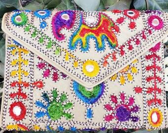Boho Crossbody Bag, Ethnic Crossbody Bag, Ethnic Handbag, Boho Sling Bag, Sling Bag, Ethnic Sling Bag, Beige Crossbody Bag, Crossbody Bag