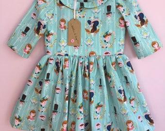 dresses, girls dresses, baby girls dresses, character dresses, girls clothing, baby girls clothing, cake smash, photo shoot, Peter Pan, gift