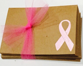 Pink Breast Cancer Ribbon notecards