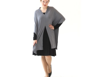Poncho Top, Poncho Wrap, Summer Poncho, Lightweight Poncho, Loose Poncho, Elegant Poncho, Plus Size Poncho, Mother's day gift, New mom gift