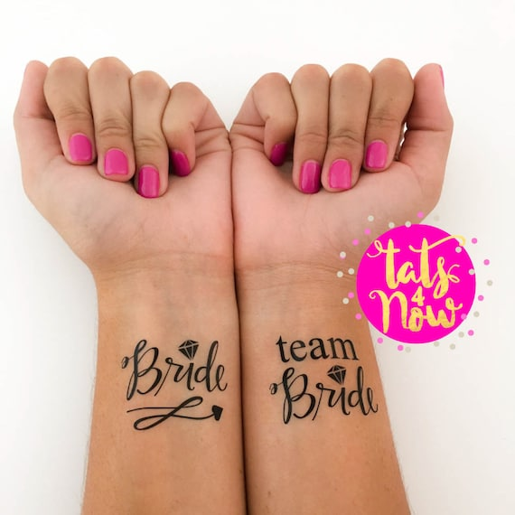 All Black Team Bride + Bride Tattoos
