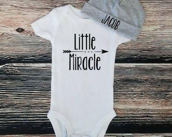 Miracle Baby bodysuit, Little Miracle bodysuit, Personalized bodysuit