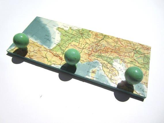 World map coat rack