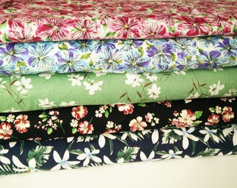 Dressmaking Fabric, Vintage Fabric, Craft Fabric, Upholstery Fabric, Hawaiian Shirt Fabric, Vintage Floral, 1940s, 1920s