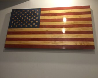 50% off sale NOW 300!! GIANT Wooden American Flag