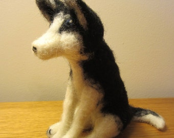 Needle Felted Husky