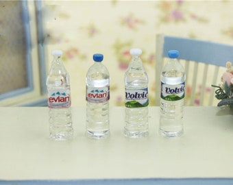 Dollhouse miniatures 1:6 mini bottle of water doll house decor
