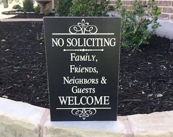 NO SOLICITING ~ Front Door Sign ~ No Solicitation Sign ~ House Warming Gift ~ No Soliciting Door Sign ~ Doorbell Sign ~ No Solicit Sign
