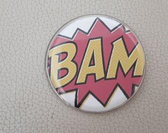 BAM badge brooch