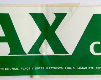 Vintage Max For Council Bumper Sticker 02