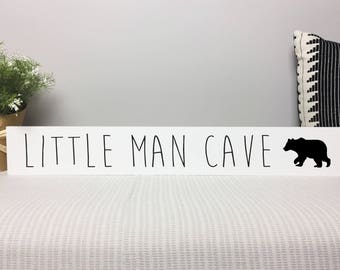 Little Man Cave Sign | Baby Shower Gift | Baby Nursery Decor