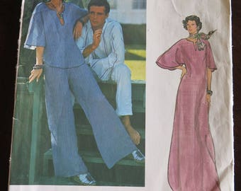 Vintage Vogue 1215 American Designer Carol Horn Caftan Dress Pants Top Sewing Pattern sz 8