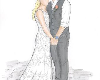 Custom (Full Body) Bride & Groom Fashion Illustration