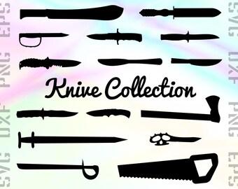 Knive SVG Files - Knife Dxf Files - Knive Clipart - Knive Cricut Files - Knive Cut Files - Knive Silhouette - Svg, Dxf, Png, Eps Vectors