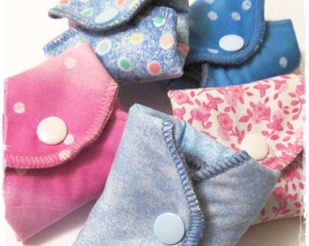 Cloth Pads Sampler Pack SET OF 8  Mama Pads ... Light to Regular Flow Coverage FREE Shipping