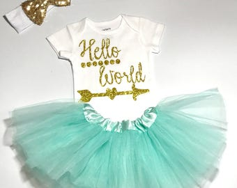 Baby Coming Home Outfit, Newborn Baby Girl Outfit, Girl Take Home Outfit, Baby Shower Gift, New Baby Girl Outfit