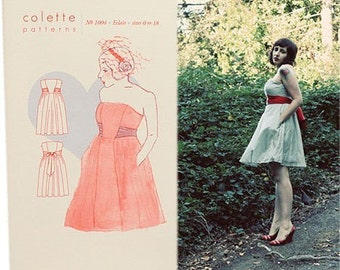 Colette Sewing PATTERN - Eclair - Dress