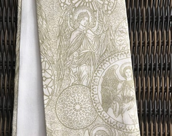 Reversible gold/off white Clergy stole with Angels!  Pastor stole, Minister stole- a perfect gift!