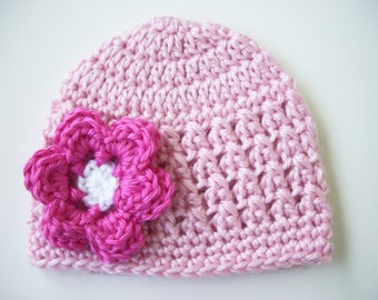 Crochet Newborn Baby Girl Hat, Newborn Hat, Baby Girl Photo Prop, Baby Girl Hat, Crochet Baby Hat, Newborn Photo Outfit, Crochet Baby Outfit