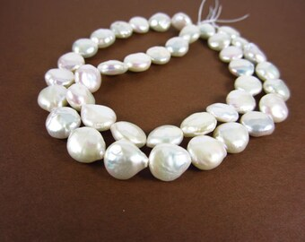 White Coin Freshwater Pearls