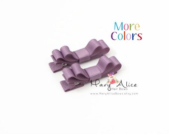 "Baby Hair Bow Set of 2- 1.75"" Girls Hair Bow, Hair Clips, Toddler Hair Bow, No Slip Alligator Clip- Made to Order- Style: DS2"