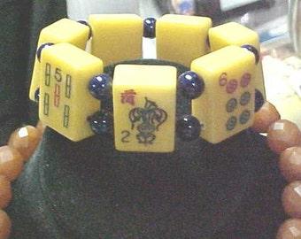 1940'a Bakelite Mah jong Bracelet by Jan Carlin Original design