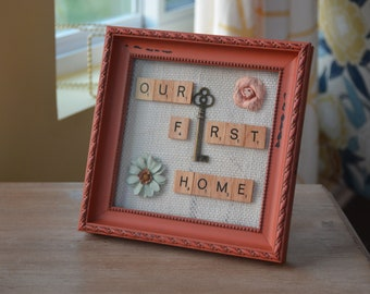 Our First Home Scrabble  Art