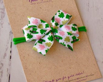 St. Patrick's Day Hair Bow,PICK PATTERN,Hair Bows,Baby Hair Clips,Girls Hair Bows,Clippies,Toddler Bow,St. Patrick's Day Party/Favor,Irish