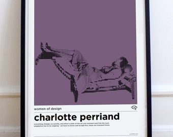A3 Charlotte Perriand Women of Design Poster