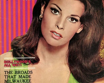 Magazine  -  Adam Magazine  Sexy Raquel Welch on Front & Back Covers  1966    plus Vicky Kennedy and other sexy women !   Look   mature